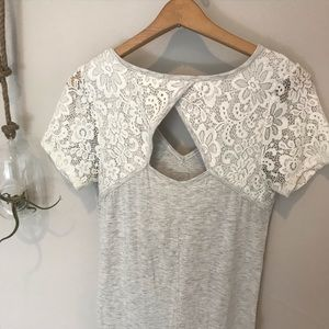 Loveappella Tops - Loveapella Alzina Maternity Lace Back Knit Top